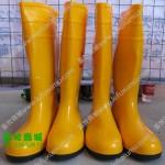钢头胶鞋 黄色钢头胶鞋 钢头雨鞋 耐酸碱胶鞋 猪场用胶鞋